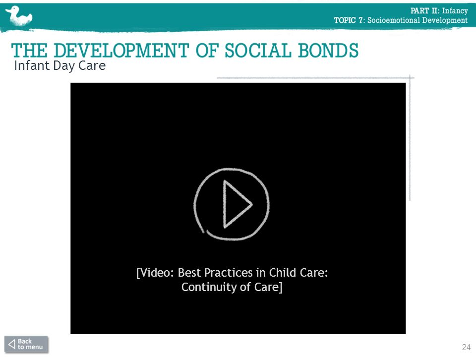 [Video: Best Practices in Child Care: Continuity of Care]
